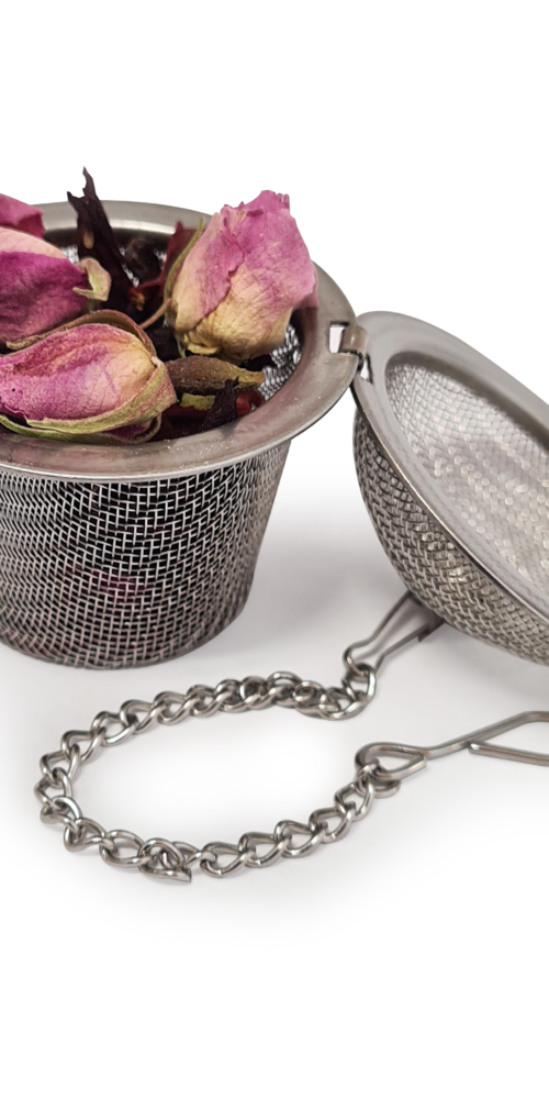 OA Open Tea Infuser with Tea and Buds